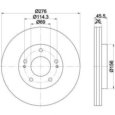 Диск тормозной передний Textar 9219820392198203