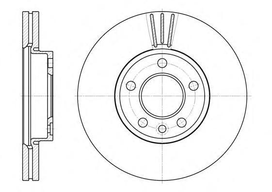 Диск тормозной передний вентилируемый 5 отв Road House670810 комплект 2 шт670810