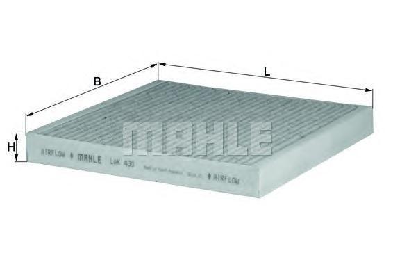 Фильтр салона угольный Mahle/Knecht LAK430LAK430
