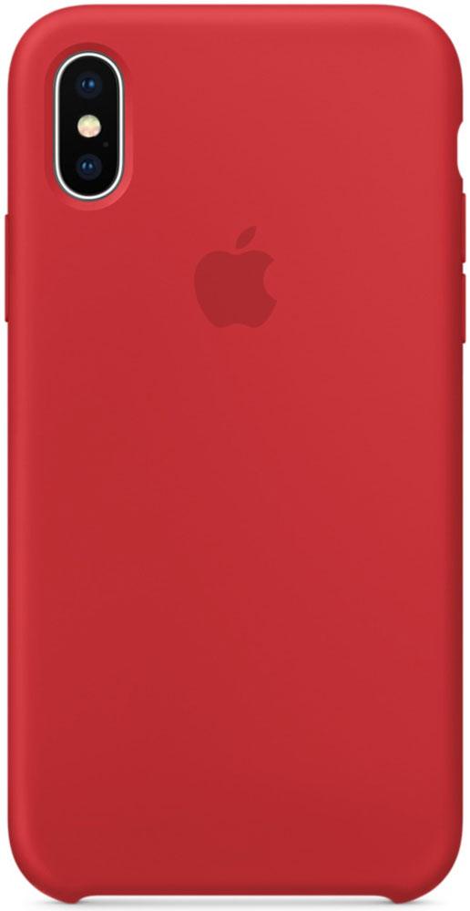 Apple Silicone Case чехол для iPhone X, RedMQT52ZM/AСиликоновый чехол от Apple — отличное дополнение к вашему iPhone X. Он плотно прилегает к кнопкам громкости и режима сна, точно повторяет контуры телефона и при этом не делает его громоздким. Мягкая подкладка из микрофибры защищает корпус вашего iPhone. А внешняя силиконовая поверхность очень приятна на ощупь. Чехол не придётся снимать даже во время беспроводной зарядки.