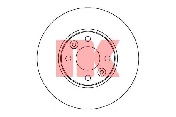 Диск тормозной NK 202264 комплект 2 шт202264