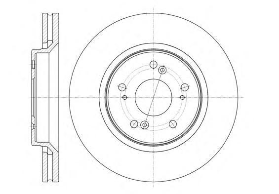 Диск тормозной передний вентилируемый Remsa 6135810 комплект 2 шт6135810