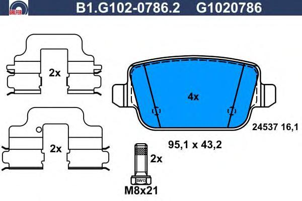 Колодки тормозные Galfer B1G10207862B1G10207862