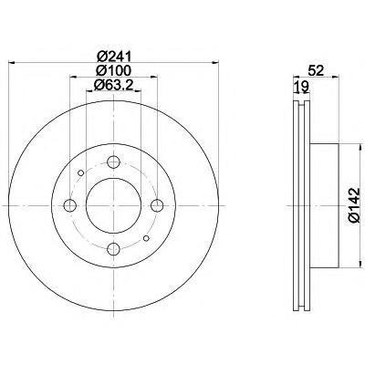 Диск тормозной HYUNDAI ACCENT II переднийTextar 92128500 комплект 2 шт92128500