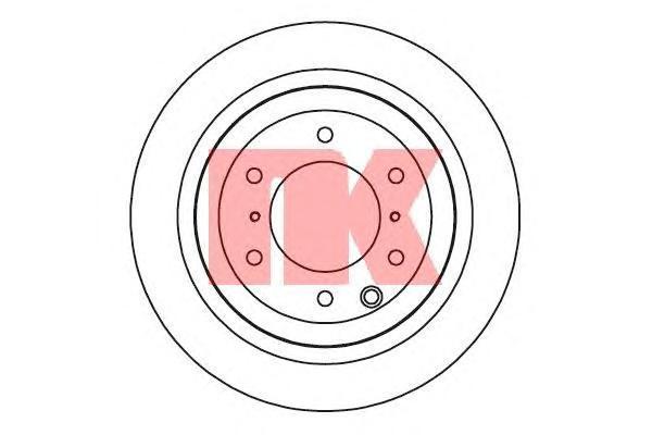 Диск тормозной NK 203056 комплект 2 шт203056