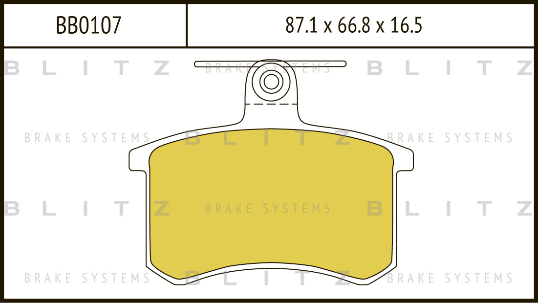 Колодки тормозные дисковые BLITZ автотовары BB0107BB0107