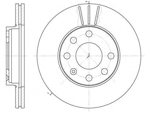 Диск тормозной Remsa 606110 комплект 2 шт606110