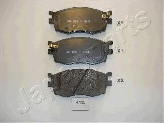 Колодки тормозные дисковые Japanparts PAK12AFPAK12AF