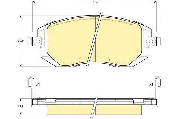 Колодки тормозные дисковые, 4 шт Textar 23865012386501