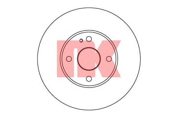Диск тормозной NK 203232 комплект 2 шт203232