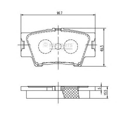 Колодки тормозные Nipparts J3612035J3612035
