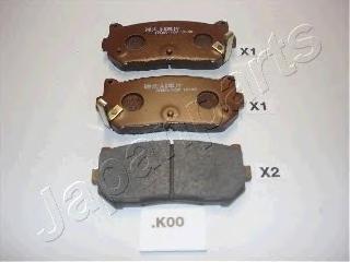 Колодки тормозные дисковые Japanparts PPK00AFPPK00AF