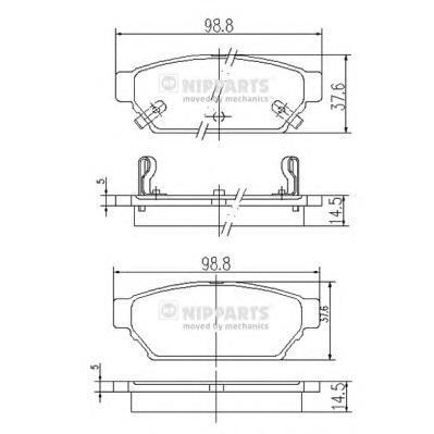 Колодки тормозные задние Nipparts J3615004J3615004