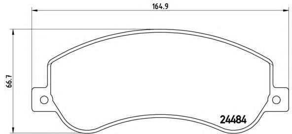 Колодки тормозные дисковые Brembo P24064P24064