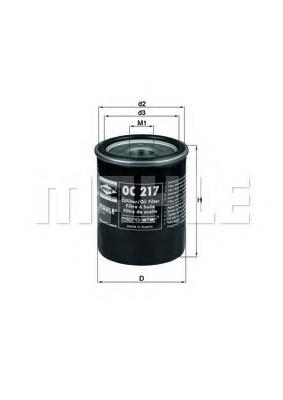 Масляный фильтр Mahle OC217OC217Сменный масляный фильтр