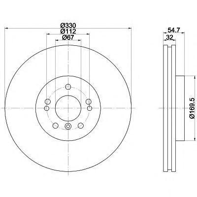 Диск тормозной Behr-Hella Pro. 8DD355113-1718DD355113-171