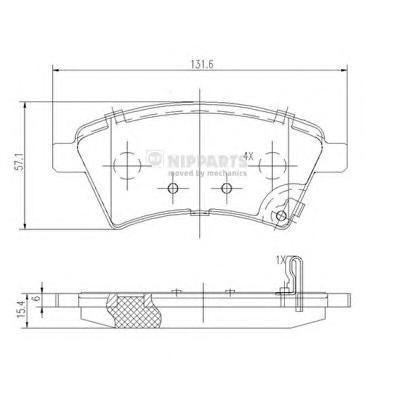 Колодки тормозные передние Nipparts J3608028J3608028