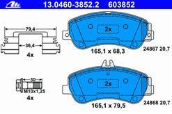 Колодки тормозные дисковые Ate 1304603852213046038522
