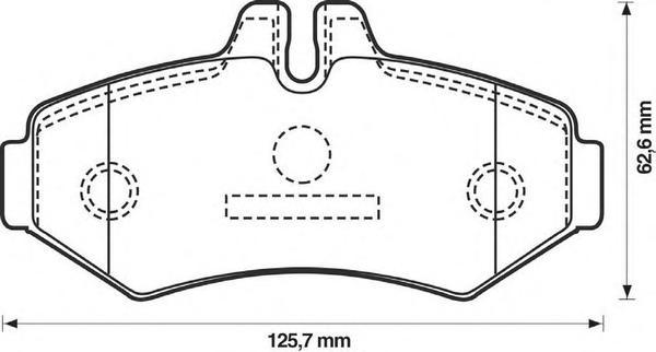 Колодки тормозные задние Jurid 571950J571950J