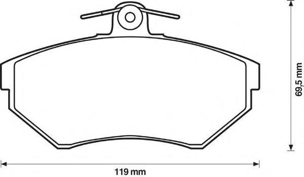 Колодки тормозные передние Jurid 571969J571969J