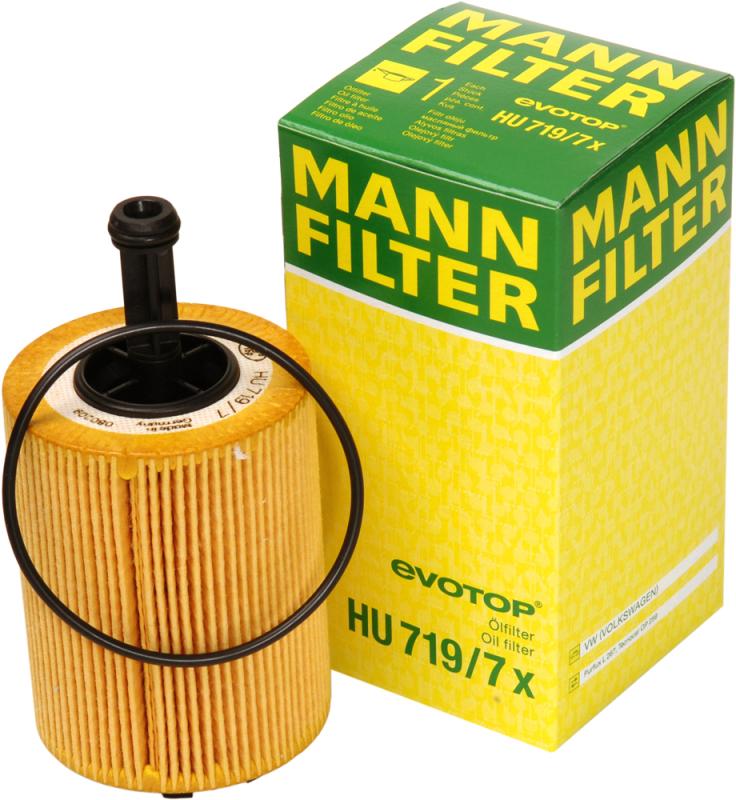 Масляный фильтроэлемент без металлических частейMann-Filter HU7197XHU7197X
