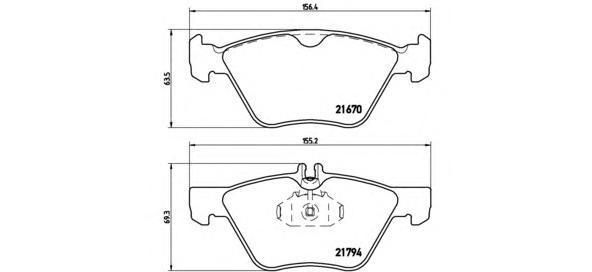 Колодки тормозные передние Brembo P50026P50026