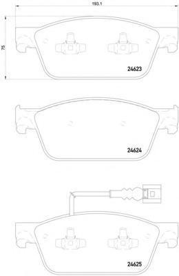 Колодки тормозные передние Textar 24623012462301