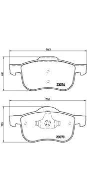 Колодки тормозные передние Brembo P86016P86016