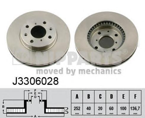 Диск тормозной передний Nipparts J3306028J3306028