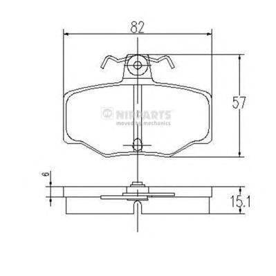 Колодки тормозные задние Nipparts J3611031J3611031