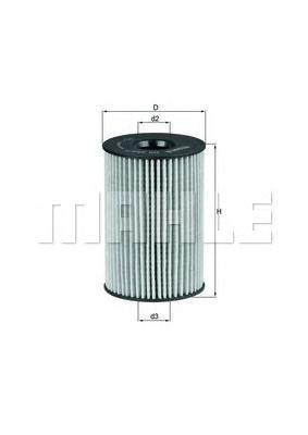 Фильтр масляный Mahle/Knecht OX3537DOX3537D