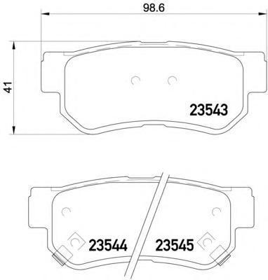 Колодки тормозные дисковые, комплект BEHR-HELLA 8DB3550099718DB355009971