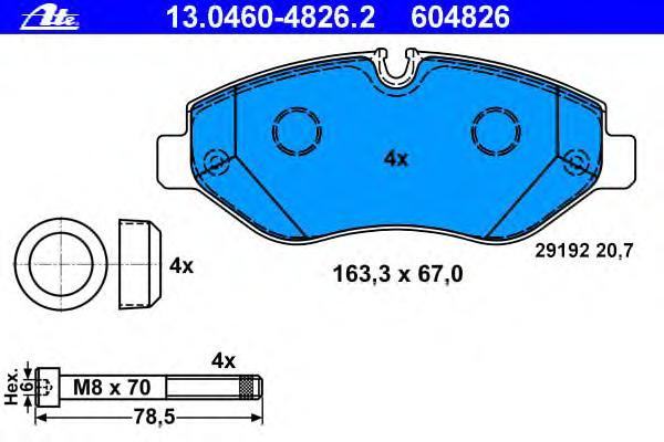 Колодки тормозные дисковые Ate 1304604826213046048262