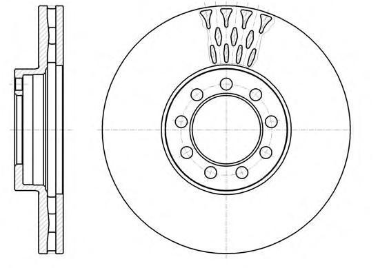 Диск тормозной передний вентилируемый[301x30] 9 отв Remsa 61298106129810