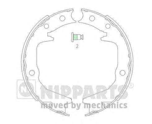 Колодки тормозные барабанные Nipparts J3505039J3505039