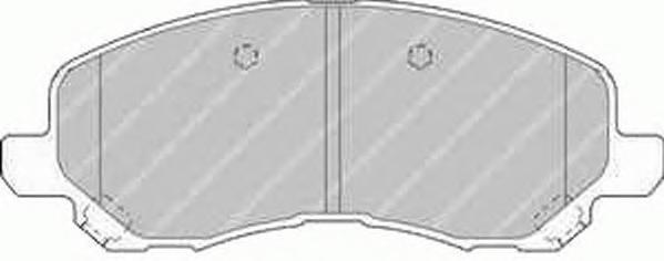 Ferodo Колодки тормозные дисковые Premier. FDB1621FDB1621