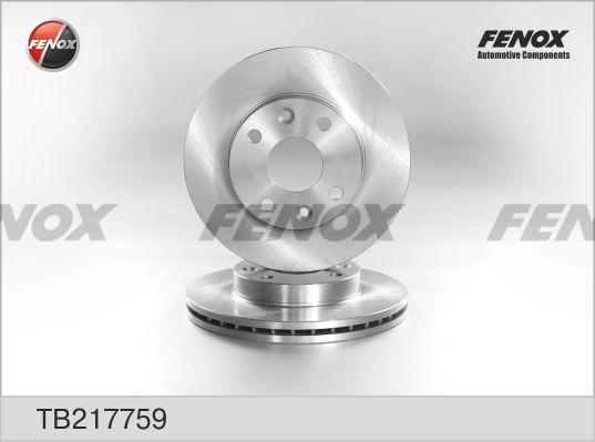 Fenox Диск тормозной. TB217759TB217759