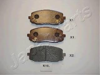 Колодки тормозные дисковые Japanparts PAK10AFPAK10AF