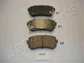 Колодки тормозные дисковые Japanparts PPK09AFPPK09AF