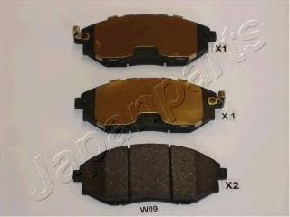 Колодки тормозные дисковые Japanparts PAW09AFPAW09AF