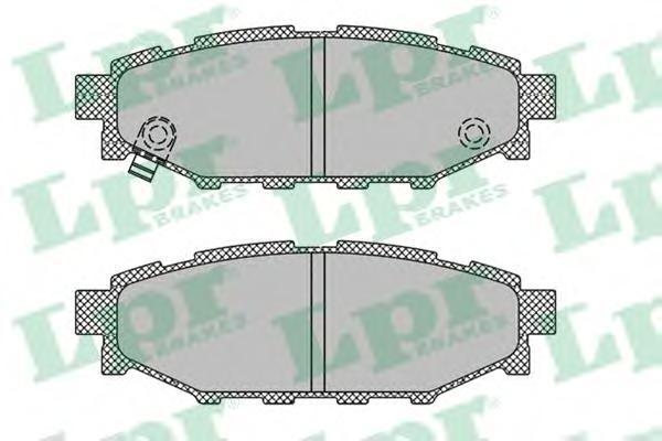 Колодки тормозные задние LPR / AP 05P140805P1408