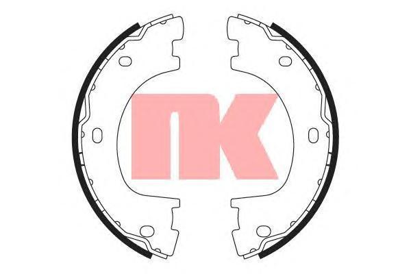 Колодки тормозные барабанные NK 27337732733773
