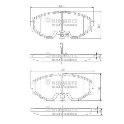 Колодки тормозные передние Nipparts J3601074J3601074