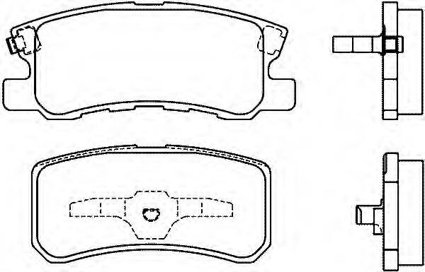 Колодки тормозные задние Textar 23582022358202