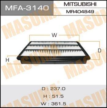 Фильтр воздушный Masuma MFA3140 фильтр воздушный masuma mfa 1136