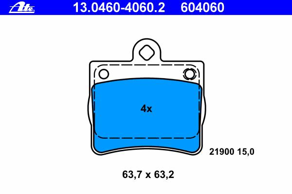 Колодки тормозные дисковые Ate 1304604060213046040602