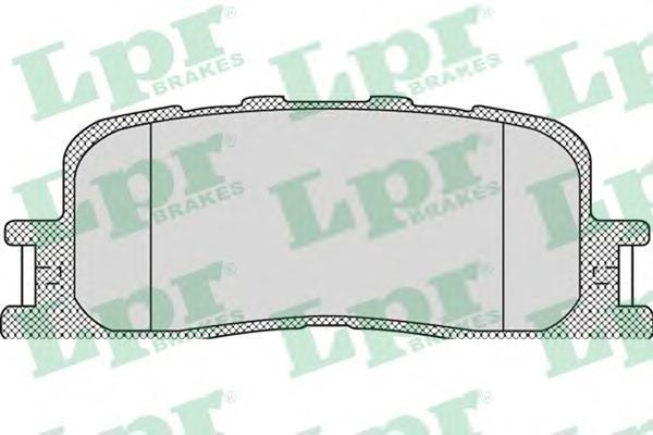 Колодки тормозные задние LPR / AP 05P111505P1115