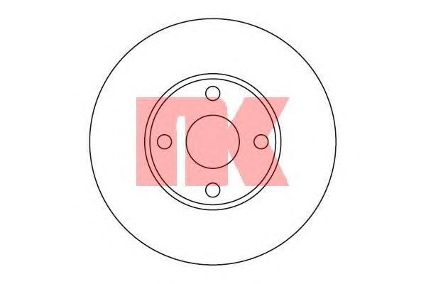 Диск тормозной NK 204579 комплект 2 шт204579