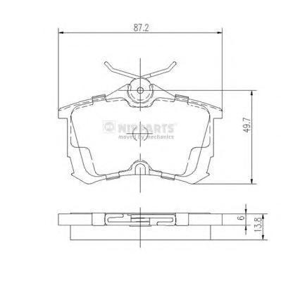 Колодки тормозные задние Nipparts J3614015J3614015
