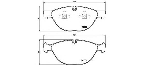 Колодки тормозные Brembo P06058P06058
